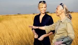 Charlize Theron und Jane Goodall