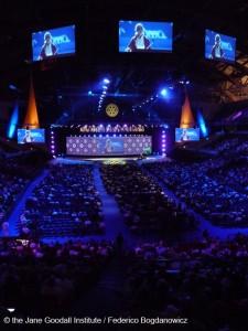 Jane Goodall spricht auf der Rotary Convention